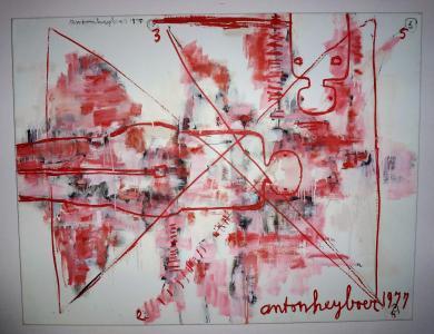 Anton Heyboer Schilderij 100 cm x 130 cm gedat.1975 /1977