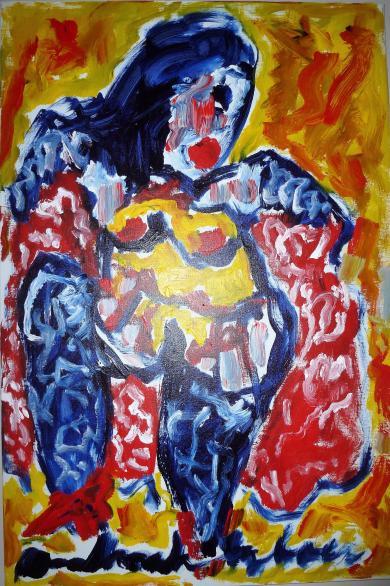 Anton Heyboer danseres 120 cm x 80 cm