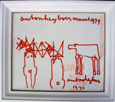 Anton Heyboer olieverf maart 1979  55 cm x 65 cm